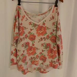 Abercrombie & Fitch Tops - Abercrombie and Fitch Rose Long sleeve
